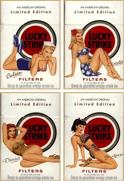 Lucky Strike série limitée http://jpdubs.hautetfort.com/archive/2013/01/05/pin-up-publicitaires.html