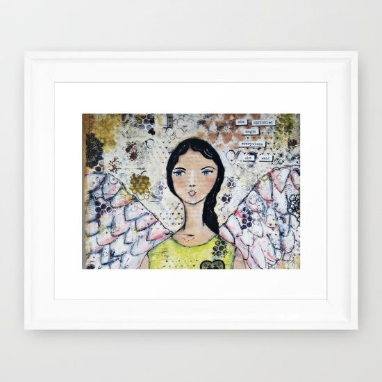 Buy Original Mixed Media Angel of Magic Framed Art Print by Croppin'Spree. Worldwide shipping available at Society6.com. Just one of millions of high quality products available.