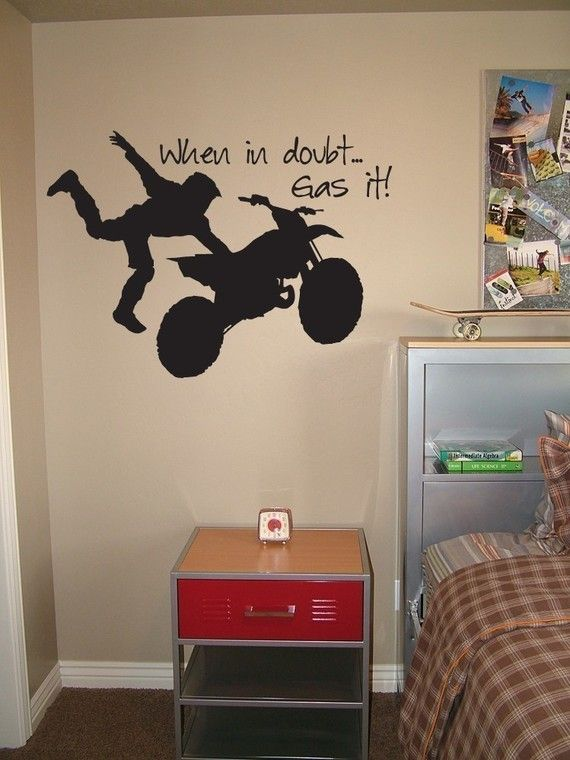 Superior Motocross Vinyl Wall Decal When In Doubt Gas By Urbanexpressions, $25.00