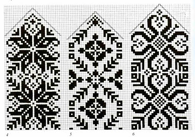 Borders or bookmarks. Free sewing pattern graph for cross stitch.