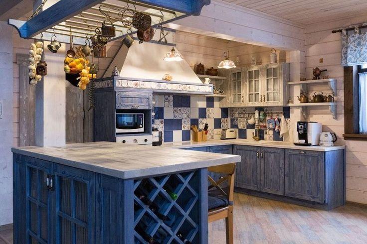 Дизайн дома из клееного бруса в стиле прованс, кантри