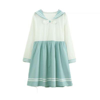 Aqua blue japanese uniform seifuku dress