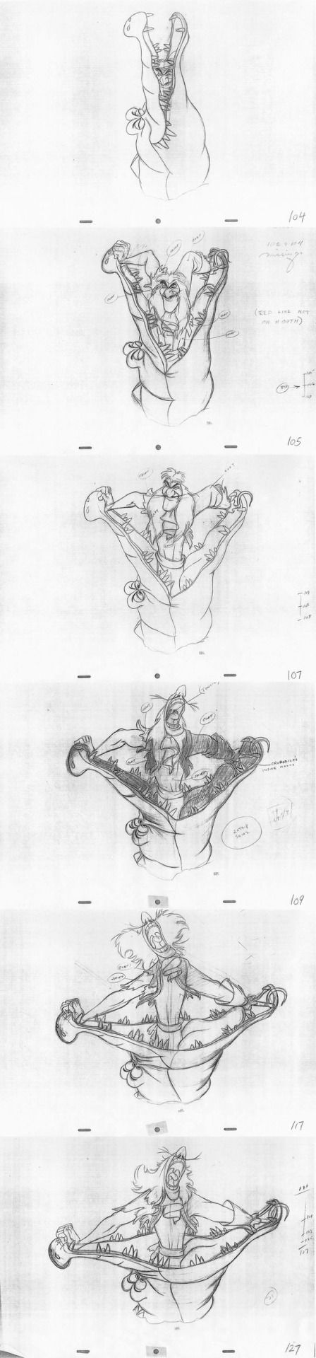 Animator: Woolie Reitherman Character: Captain Hook Film: Peter Pan (1953) Studio: Walt Disney Pictures