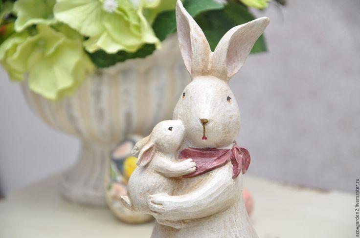 Купить Крольчиха с крольчонком декор и подарок на Пасху, стиль Прованс - Пасхальный кролик, пасхальный декор