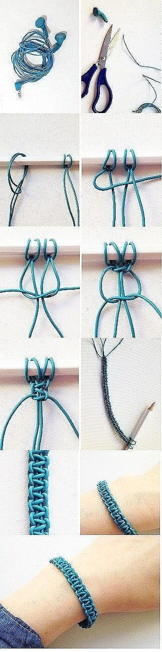 I feel so smart knowing how to make these !!! You can add beads to, to make your own occasionally slip a bead on after a certain number of knots and it will look even cooler and you can switch colors to and it looks pretty cool afterwards