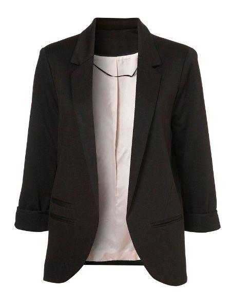 Black+Boyfriend+Ponte+Rolled+Sleeves+Blazer+28.00