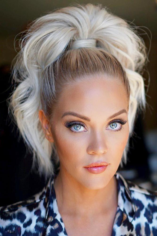 20 Hair Styles For A Blonde Hair Blue Eyes Girl High Ponytail