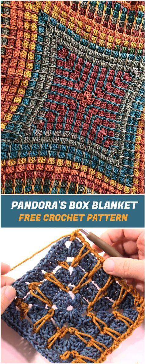 Pandora's Box Blanket - Free Crochet Pattern