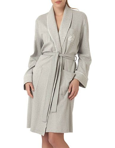 LAUREN RALPH LAURENLauren Essentials Short Shawl Collar Robe