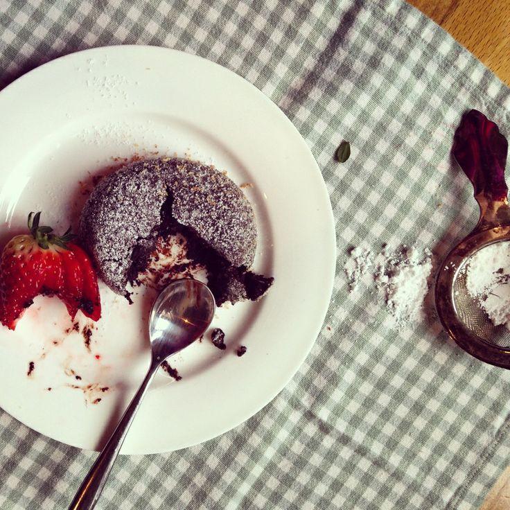 GF Chocolate Bomb. Delish!: Lava Cake