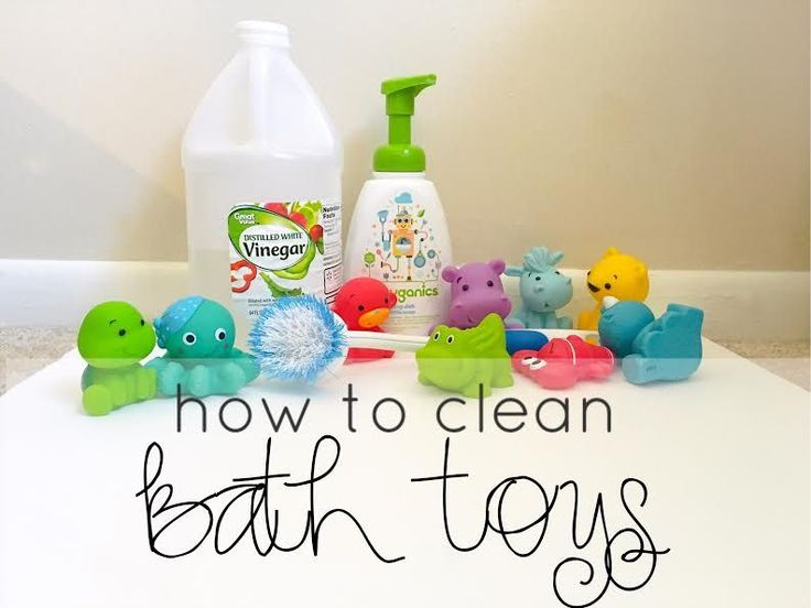 Photo On How to clean bath toys naturally WITHOUT bleach