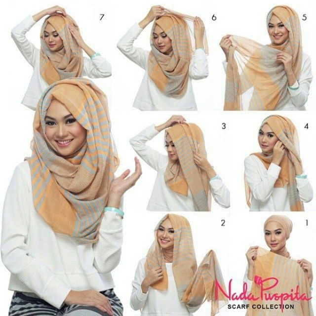 "This is the perfect ""hijab with folds"" classic look, we've seen many bloggers…"