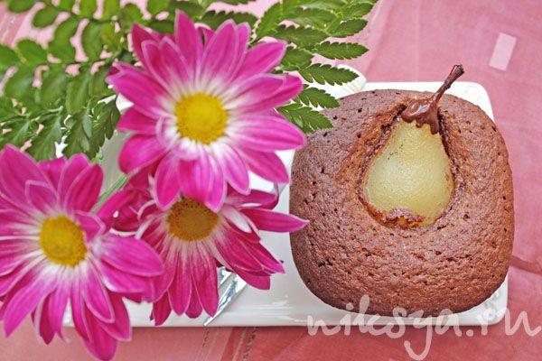 Шоколадно-миндальный кекс с грушей от Огюста Эскофье