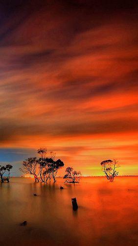 Sunset, Fiery Sky