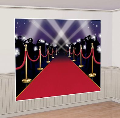 "Perfect Red Carpet Backdrop for that DIY Photo Booth! Click through to our blog post: ""How to Host an Amazing Oscars Party in Your Apartment"" - Here's our hottest tips for making sure your Oscars Night party is one that your guests will all be talking about! #oscars #party #planning"