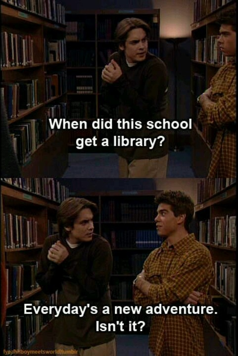 Boy Meets World :) my favorite episode!