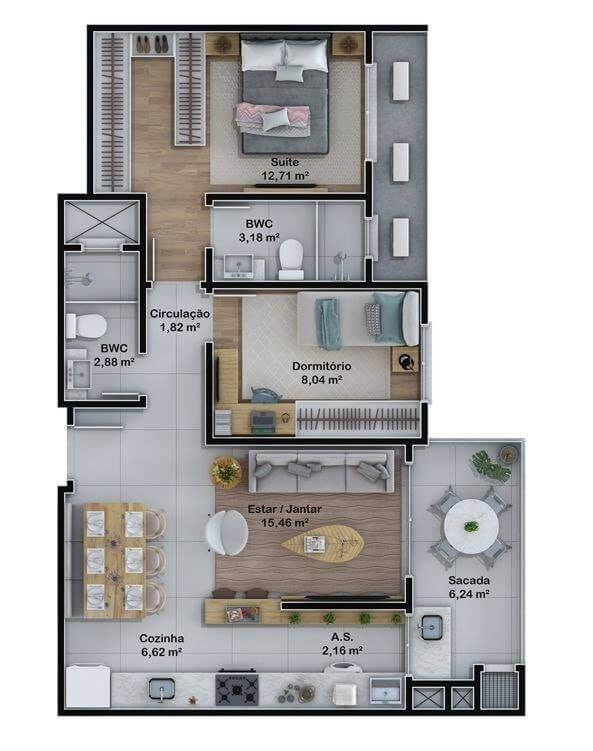 Top 40 3d Floor Plan Ideas Engineering Discoveries House Construction Plan Small House Design Plans House Layout Plans