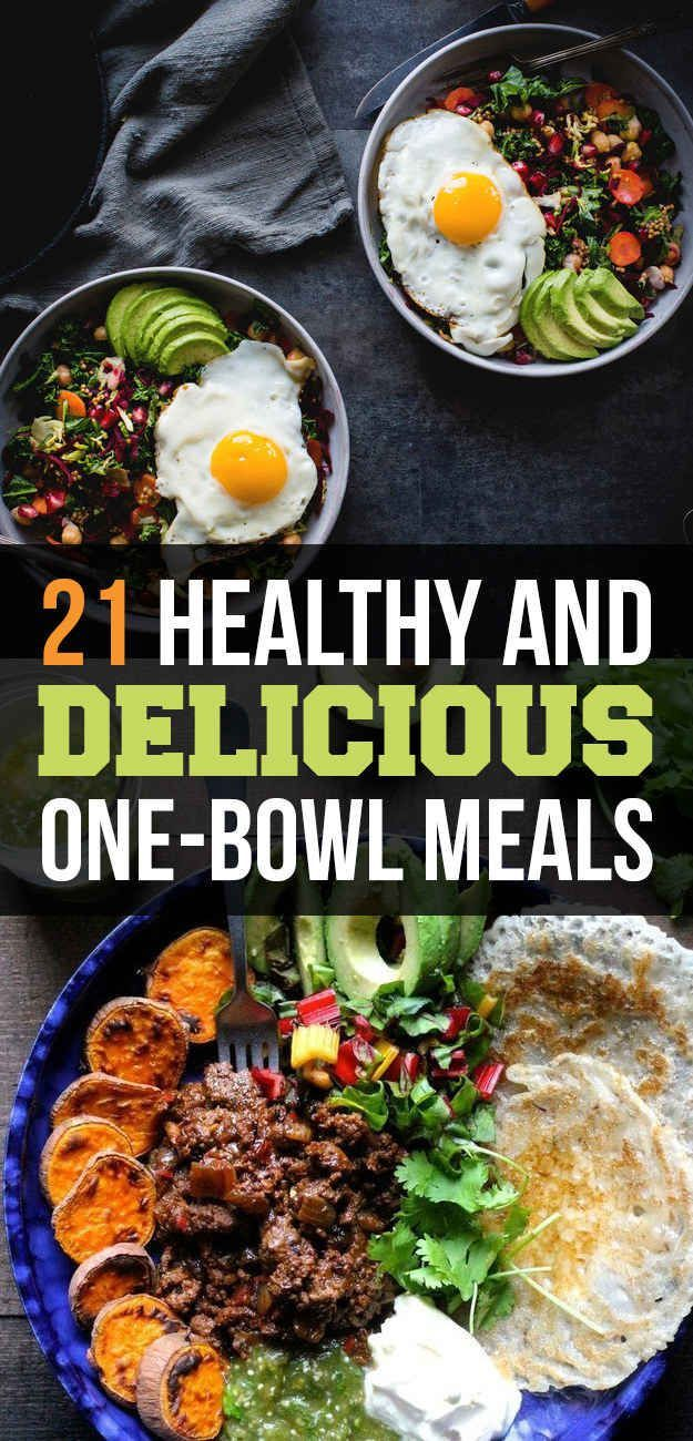 21 Healthy And Delicious One-Bowl Meals #healthy #easy #meals