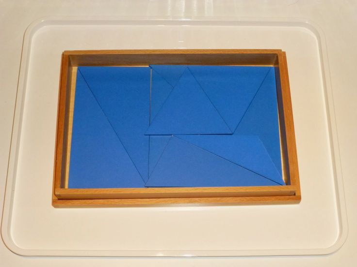 Constructive Triangles - Blue Rectangular Box