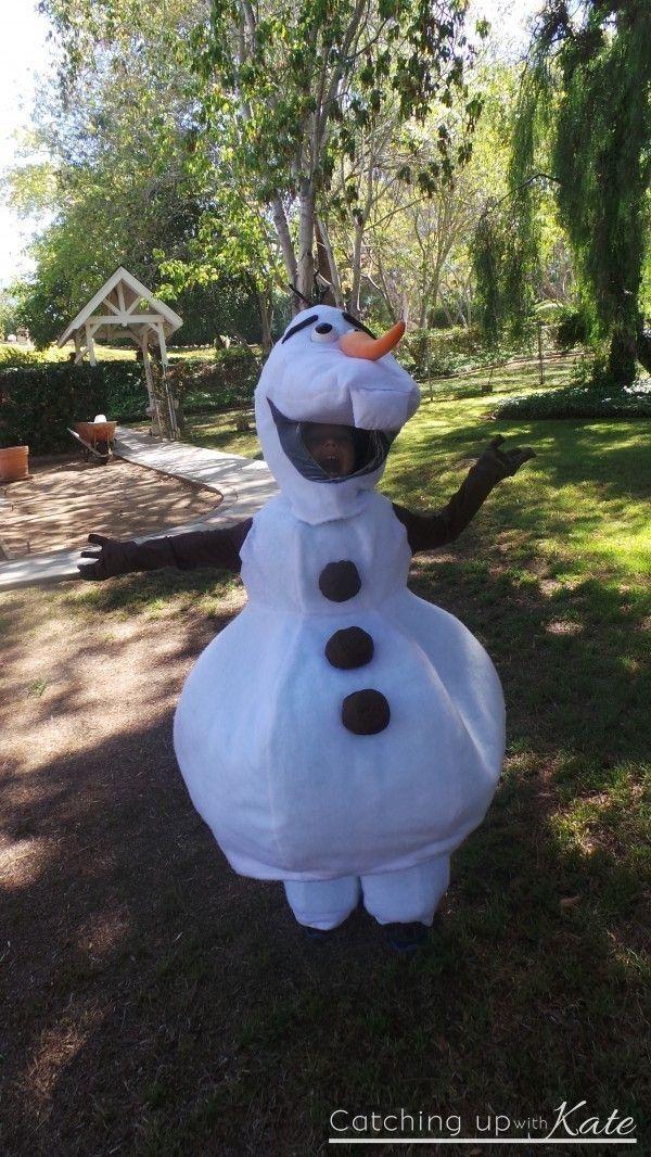 Cute Frozen Olaf Halloween costume that kids will like in 2014