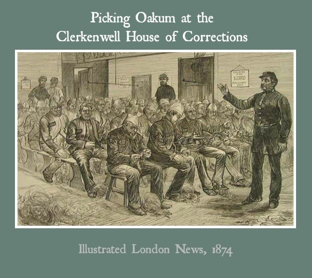 """Picking oakum: a brutal and tortuous fiber """"craft"""". Unraveling old rope was one way the Victorians punished criminals and the poor."""