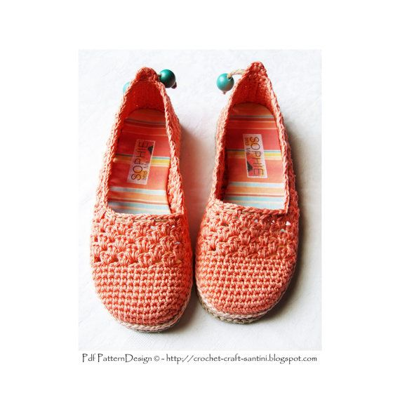 Zapatillas de encaje de coral/alpargatas - Crochet patrones - Pdf de descarga inmediata