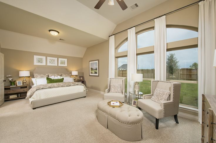 Meridiana New Model Home - 3,002 Sq. Ft. - Master Bedroom - #PerryHomes #trustedbuilder #homebuying #homebuilding #familyhome #Meridiana #IowaColonyTX #AlvinISD #Pearland #DowntownHouston #HoustonHomes #PearlandTownCenter #openconcept #openfloorplan #realestate #RelocatingtoHouston #SouthHouston #TexasMedicalCenter #masterbedroom #mastersuite #wallofwindows