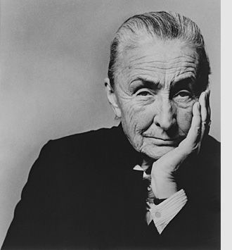 Georgia O'Keeffe (1887-1986), by Philippe Halsman. Gelatin silver print, 1967  Halsman Family Collection. Image Copyright the Estate of Philippe Halsman