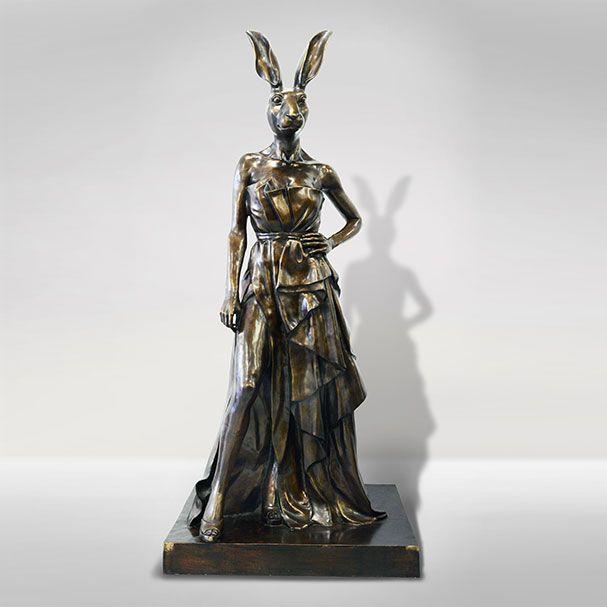 """GILLIE AND MARC ORIGINAL """"Angelina Rabbit"""" Bronze Sculptures 224.0 x 920.0 x 103.0 CM ( H*L*W ) 150kgs"""