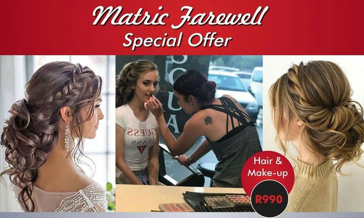 Matric Farewell Special - Book with one of our awesome Stylists now - R990 for Hair and Make-up. Phone 011 3913105/6. www.pasquale.co.za #pasquale #matricdance #farewell #makeover #salon #kemptonpark #matric2018