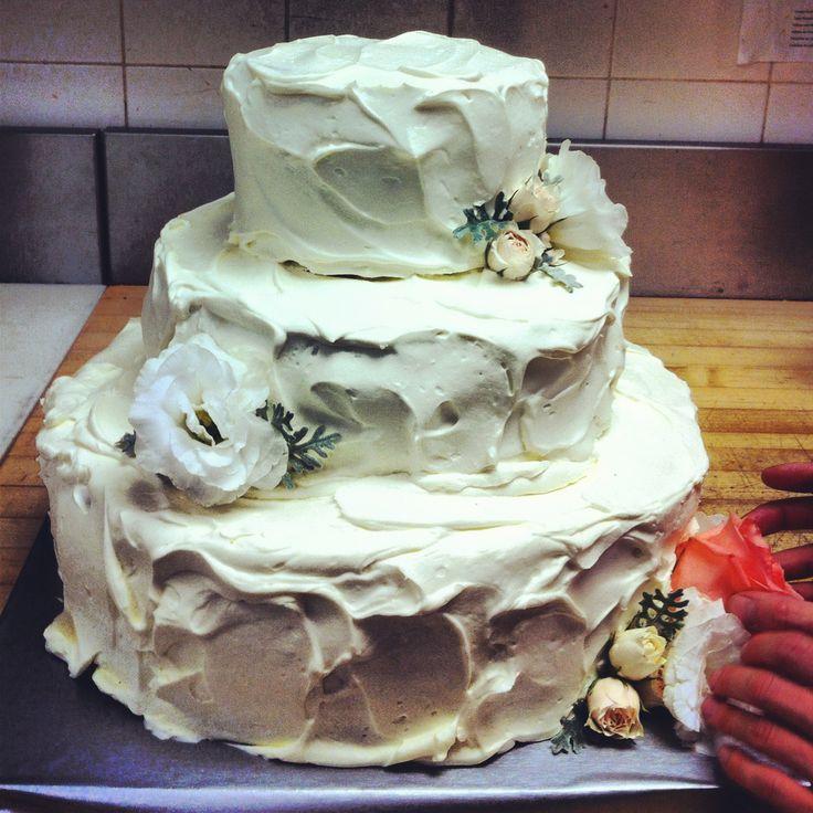 gâteau chantilly + fleurs