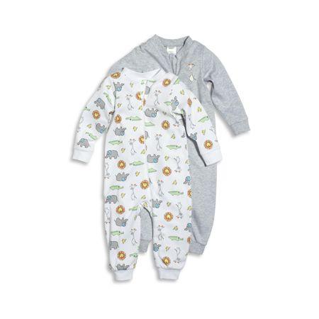 Vit Pyjamas, 2-pack mönstrad pyjamas med...