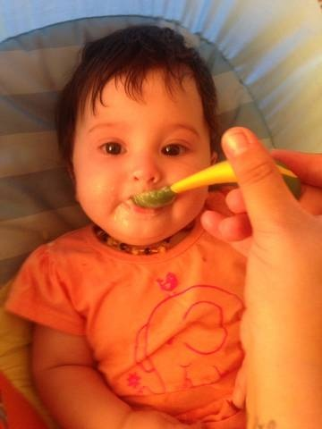 Darci Maree is a Little Friend of Rafferty's Garden, and chows down all her meals.     www.raffertysgarden.com    #RaffertysGarden #Babies #BabyFood