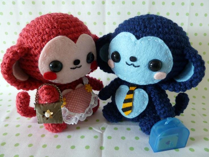 Koala Amigurumi Nose : Monkeys Crochet & Knitting & Other cuties Pinterest ...