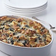 Spinach and Cheese Strata (aka the base recipe for the strata I make for every cold-weather brunch)