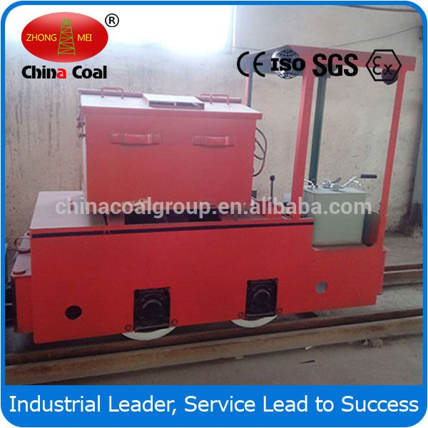 China Coal Group 5T Flame Proof Electric Battery Locomotive For Underground Mine