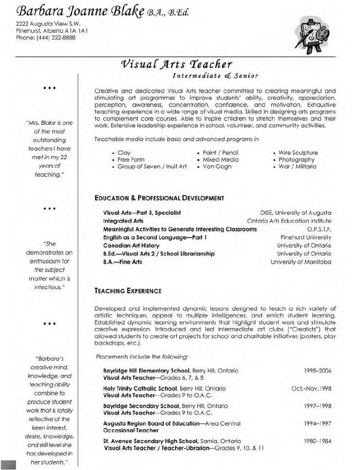 Best 25+ Teacher resumes ideas on Pinterest Teaching resume - objective for a teacher resume