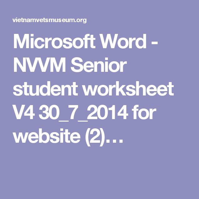 Microsoft Word - NVVM Senior student worksheet V4 30_7_2014 for website (2)…