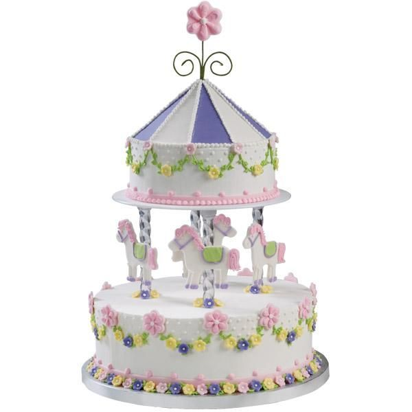 carousel decorated cakes | ... style. Sculpt an eye-catching merry-go-round carousel birthday cake