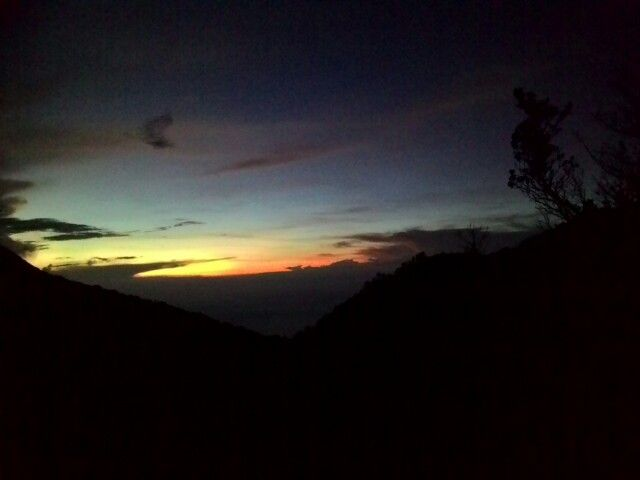 Sunrise in welirang Mountain