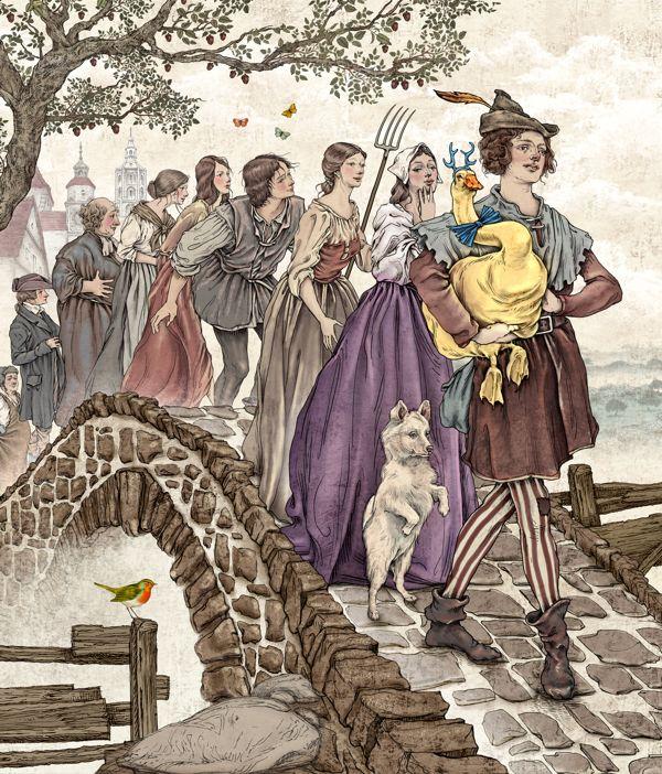 The Golden Goose: Fairy Tales Illustrations by Julian De Narvaez