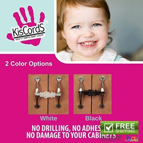 "Cabinet Locks Straps Baby Proofing Safety Latches Handles Lockers Child Kids 7"" #KISCORDS"