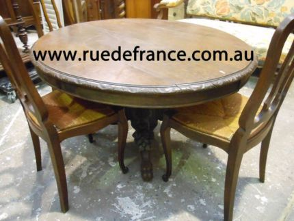 ANTIQUE FRENCH CARVED DINING TABLES - LOUIS XV STYLE & OTHERS