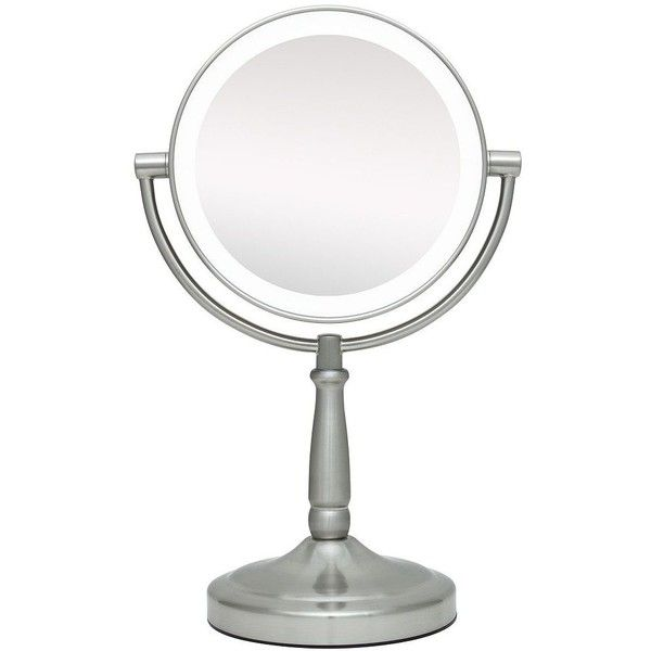 "Zadro Cordless LED Lighted Pivoting 7"" Wide Vanity Mirror ($70) ❤ liked on Polyvore featuring home, bed & bath, bath, bath accessories, mirrors, lighted makeup mirror, illuminated makeup mirror, lighted magnifying makeup mirror, lit makeup mirror and lighted cosmetic mirror"