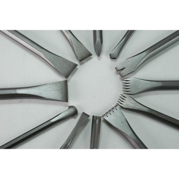 Trousses d'outils acier de sculpture sur pierre et massettes - HM diffusion