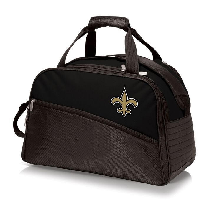 The New Orleans Saints Stratus Cooler by Picnic Time is a fully-insulated, structured duffel style cooler with adjustable compartments throughout and a water-resistant, heavy-duty bottom. The Saints S