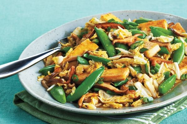 Tofu and Spring Vegetable Stir-Fry