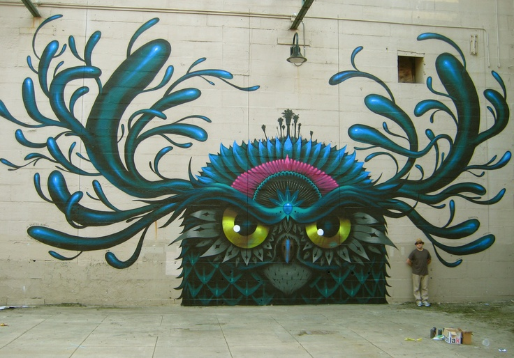 "Jeff Soto ""Family Tree- Owl"", painted in Richmond, Virginia in April 2012."