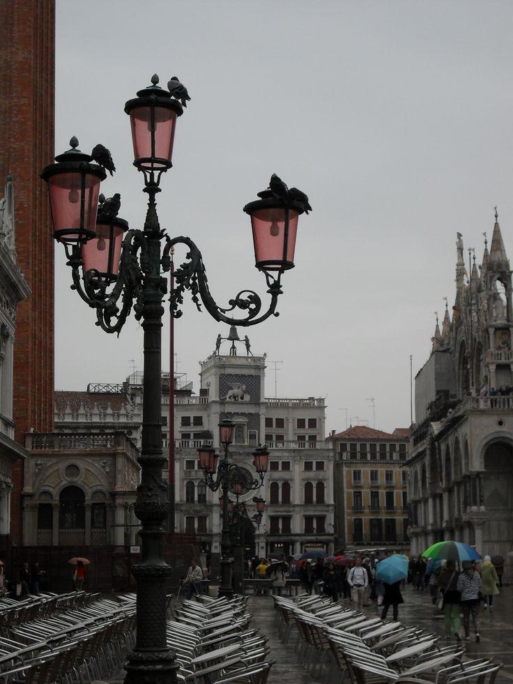 Piazza San Marco, Venice, Italy, Rain