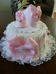 bolo fraldas pequeno menina